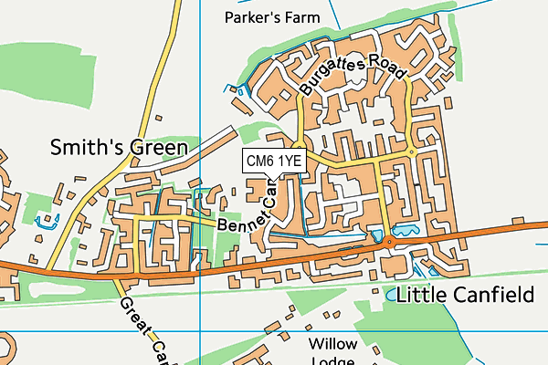 Takeley Primary School map (CM6 1YE) - OS VectorMap District (Ordnance Survey)