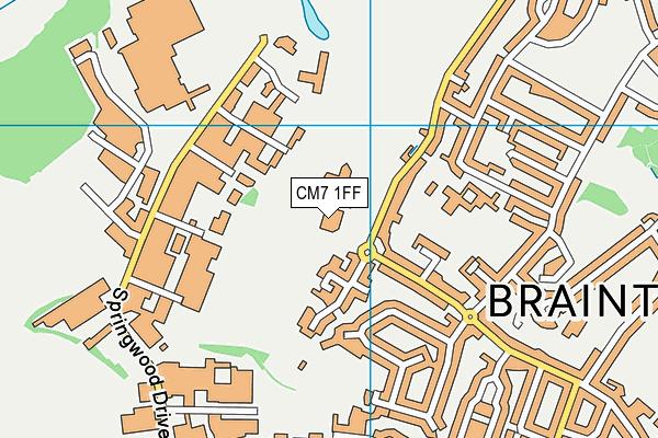 Braintree Sport & Health Club map (CM7 1FF) - OS VectorMap District (Ordnance Survey)