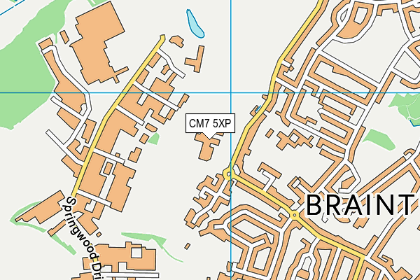 Tabor Academy map (CM7 5XP) - OS VectorMap District (Ordnance Survey)