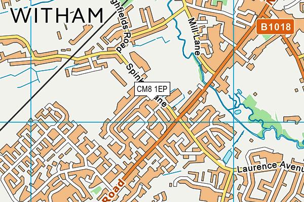 Witham Leisure Centre map (CM8 1EP) - OS VectorMap District (Ordnance Survey)