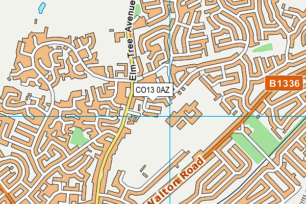 Tendring Technology College map (CO13 0AZ) - OS VectorMap District (Ordnance Survey)