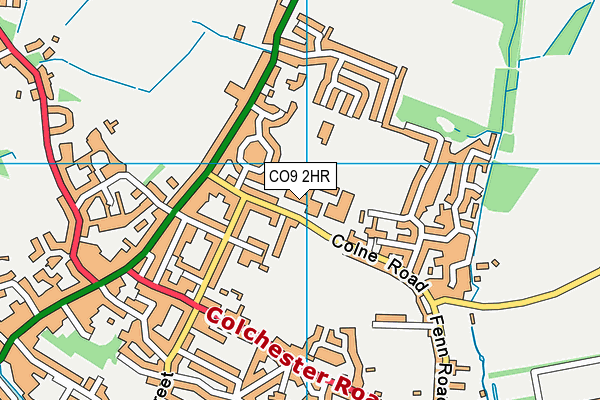 Halstead Leisure Centre map (CO9 2HR) - OS VectorMap District (Ordnance Survey)