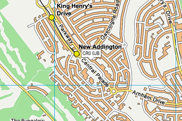 New Addington Leisure Centre map (CR0 0JB) - OS VectorMap District (Ordnance Survey)