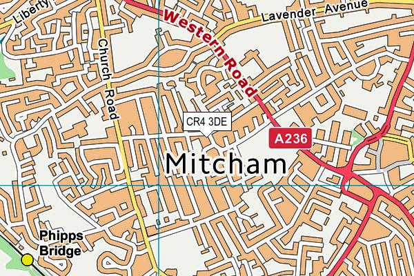 Lewis Road Recreation Ground (Closed) map (CR4 3DE) - OS VectorMap District (Ordnance Survey)