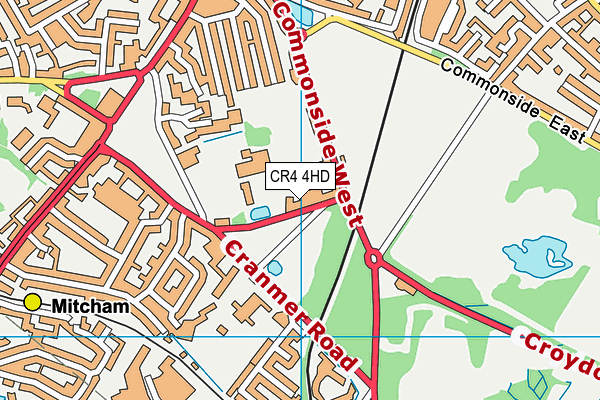Canons Leisure Centre map (CR4 4HD) - OS VectorMap District (Ordnance Survey)