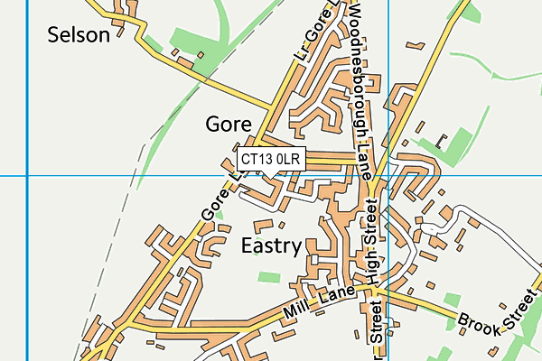 Eastry Primary School map (CT13 0LR) - OS VectorMap District (Ordnance Survey)