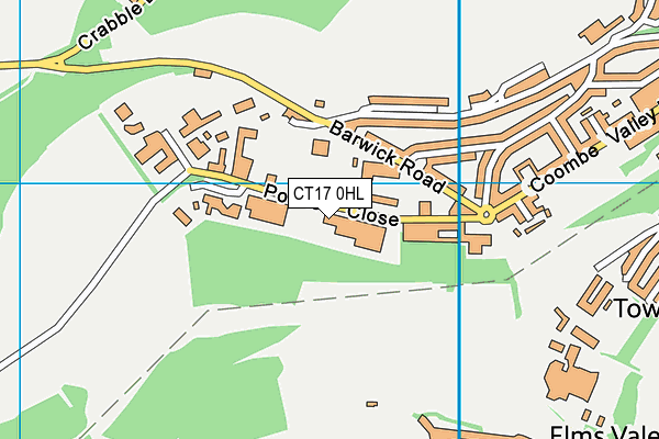 The Weights Room Uk Ltd (Closed) map (CT17 0HL) - OS VectorMap District (Ordnance Survey)