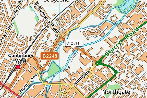 Kingsmead Leisure Centre map (CT2 7PH) - OS VectorMap District (Ordnance Survey)