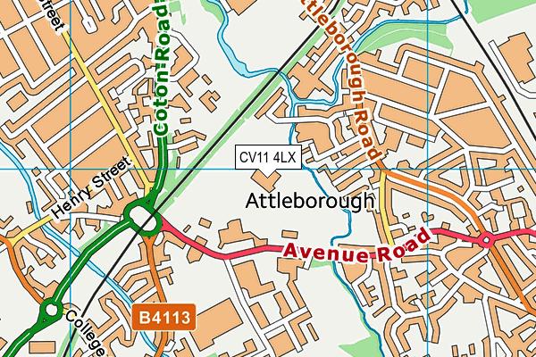 Pingles Leisure Centre map (CV11 4LX) - OS VectorMap District (Ordnance Survey)