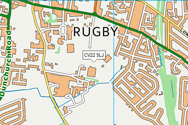 The Queen's Diamond Jubilee Centre, Rugby map (CV22 5LJ) - OS VectorMap District (Ordnance Survey)