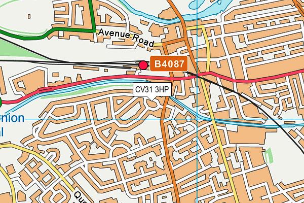 Bury Road (Closed) map (CV31 3HP) - OS VectorMap District (Ordnance Survey)