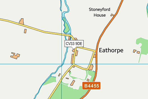 Eathorpe Village Hall map (CV33 9DE) - OS VectorMap District (Ordnance Survey)