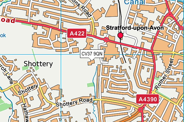 The Willows Cofe Primary School map (CV37 9QN) - OS VectorMap District (Ordnance Survey)