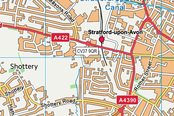 The Willows Fitness Studio (Closed) map (CV37 9QR) - OS VectorMap District (Ordnance Survey)
