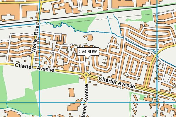 Charter Primary School map (CV4 8DW) - OS VectorMap District (Ordnance Survey)