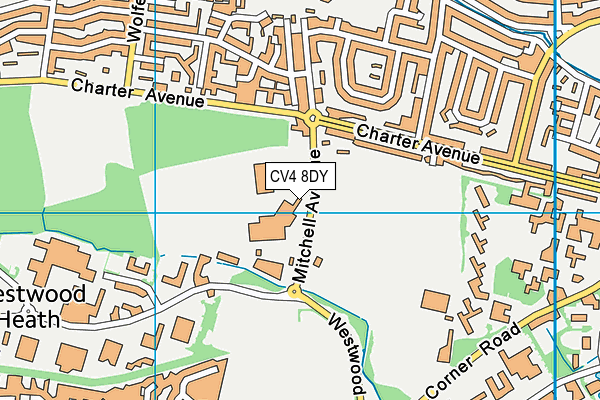WMG Academy for Young Engineers map (CV4 8DY) - OS VectorMap District (Ordnance Survey)