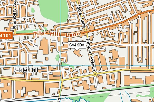 Templars Primary School map (CV4 9DA) - OS VectorMap District (Ordnance Survey)