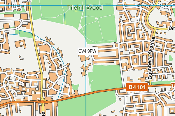 West Coventry Academy map (CV4 9PW) - OS VectorMap District (Ordnance Survey)