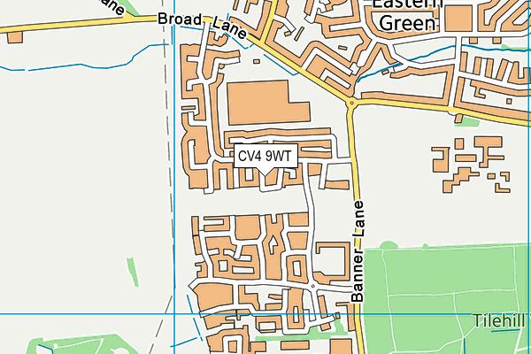 Finham Park 2 map (CV4 9WT) - OS VectorMap District (Ordnance Survey)