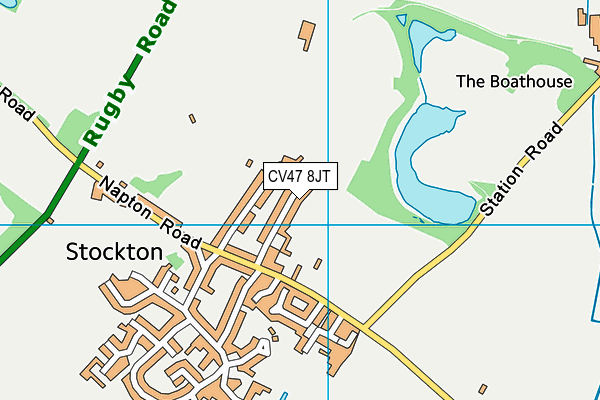 The Town Piece map (CV47 8JT) - OS VectorMap District (Ordnance Survey)