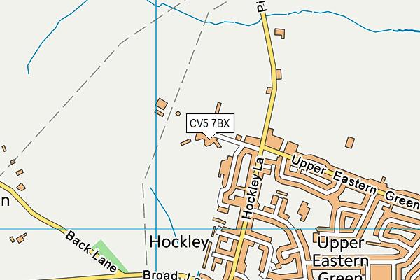 Eastern Green Recreation Ground map (CV5 7BX) - OS VectorMap District (Ordnance Survey)