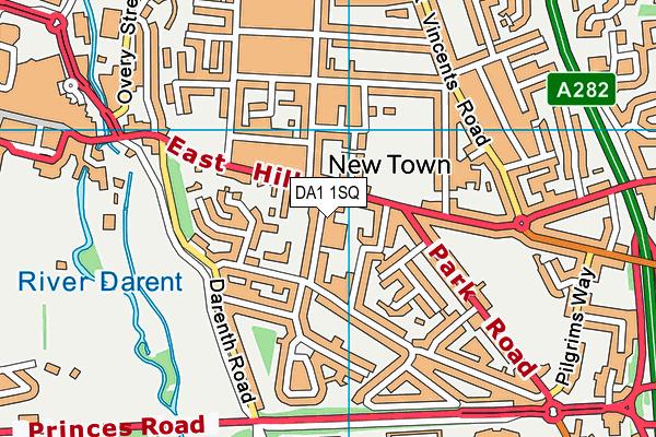 Dartford Primary Academy map (DA1 1SQ) - OS VectorMap District (Ordnance Survey)