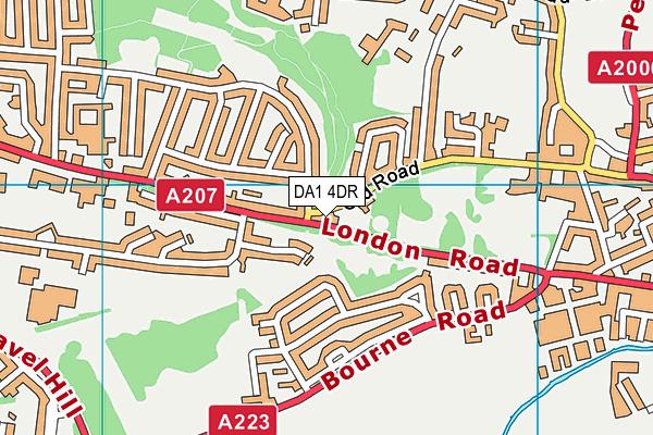 DA1 4DR map - OS VectorMap District (Ordnance Survey)