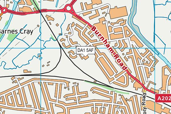 Holy Trinity Church of England Primary School, Dartford map (DA1 5AF) - OS VectorMap District (Ordnance Survey)