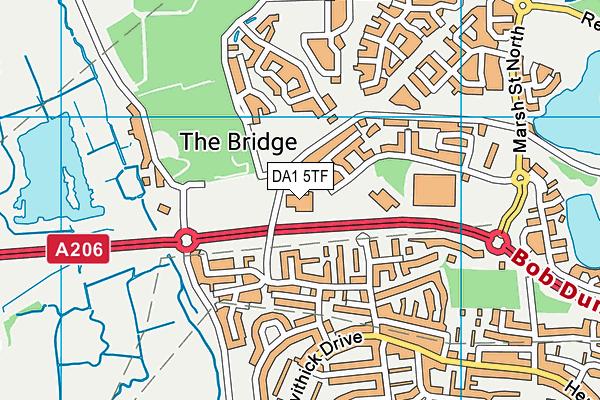 The Leigh UTC map (DA1 5TF) - OS VectorMap District (Ordnance Survey)