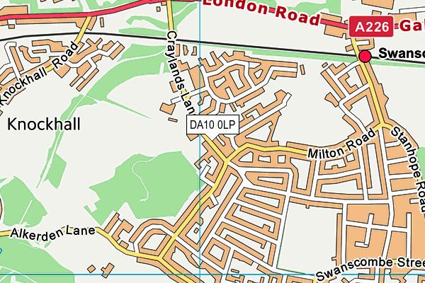The Craylands School map (DA10 0LP) - OS VectorMap District (Ordnance Survey)
