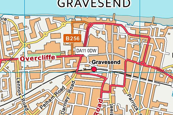 Nrg Gym (Gravesend) map (DA11 0DW) - OS VectorMap District (Ordnance Survey)