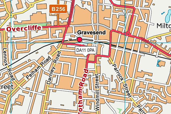 DA11 0PA map - OS VectorMap District (Ordnance Survey)
