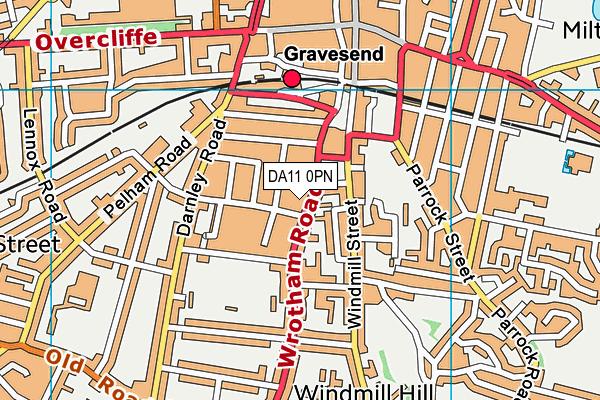 DA11 0PN map - OS VectorMap District (Ordnance Survey)