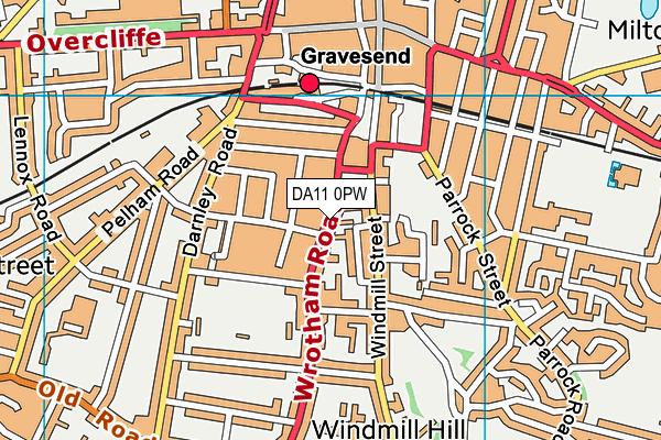 DA11 0PW map - OS VectorMap District (Ordnance Survey)