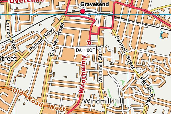 Wrotham Road Primary School map (DA11 0QF) - OS VectorMap District (Ordnance Survey)