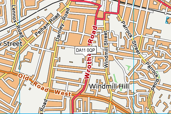 Gravesend Cricket Club map (DA11 0QP) - OS VectorMap District (Ordnance Survey)