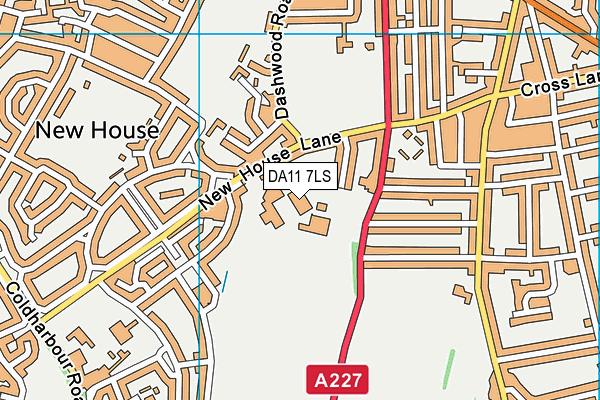 Saint George's Church of England School map (DA11 7LS) - OS VectorMap District (Ordnance Survey)
