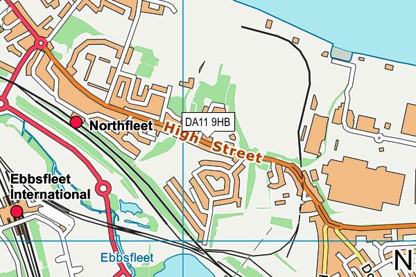 Lawn Primary School map (DA11 9HB) - OS VectorMap District (Ordnance Survey)
