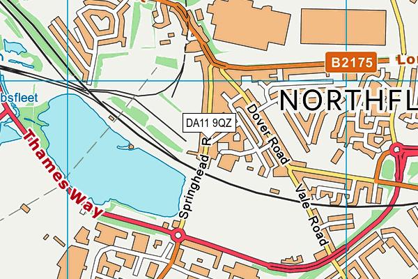 St Joseph's Catholic Primary School, Northfleet map (DA11 9QZ) - OS VectorMap District (Ordnance Survey)