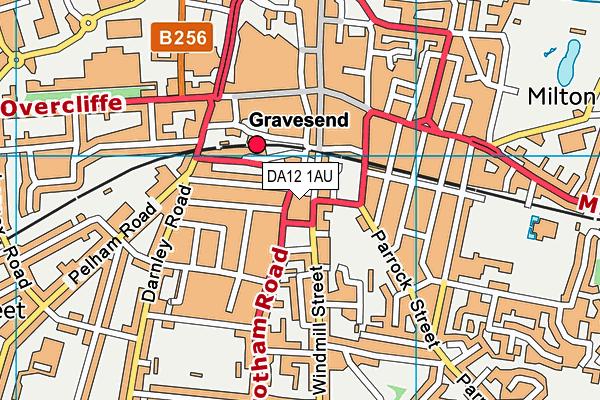 DA12 1AU map - OS VectorMap District (Ordnance Survey)