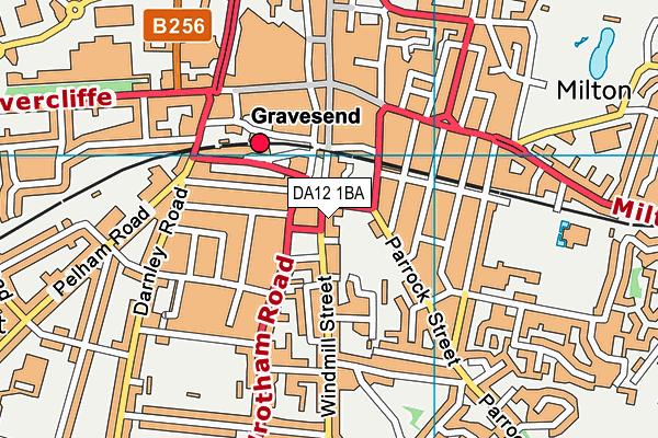 DA12 1BA map - OS VectorMap District (Ordnance Survey)