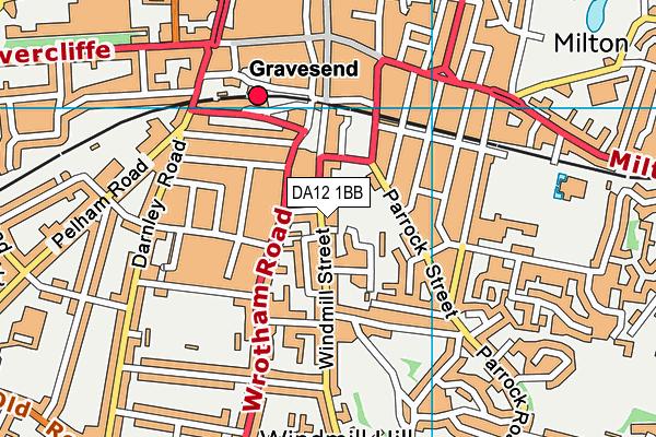 DA12 1BB map - OS VectorMap District (Ordnance Survey)