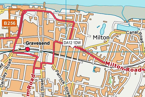 DA12 1DW map - OS VectorMap District (Ordnance Survey)
