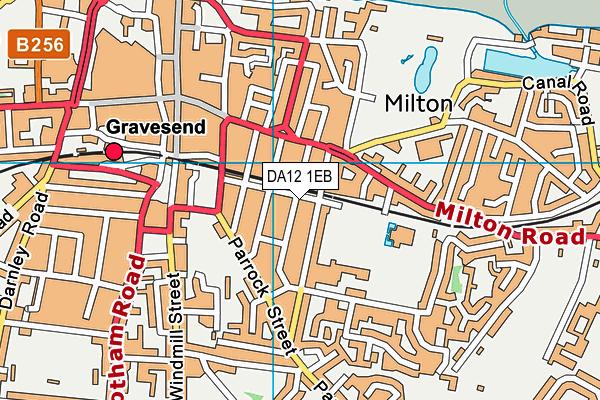 DA12 1EB map - OS VectorMap District (Ordnance Survey)
