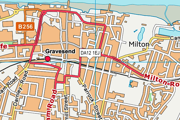 DA12 1EJ map - OS VectorMap District (Ordnance Survey)