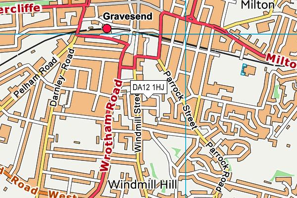 DA12 1HJ map - OS VectorMap District (Ordnance Survey)