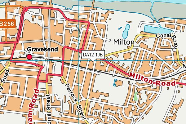DA12 1JB map - OS VectorMap District (Ordnance Survey)