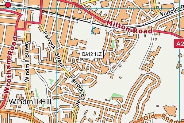 DA12 1LZ map - OS VectorMap District (Ordnance Survey)