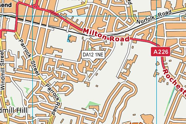 DA12 1NE map - OS VectorMap District (Ordnance Survey)