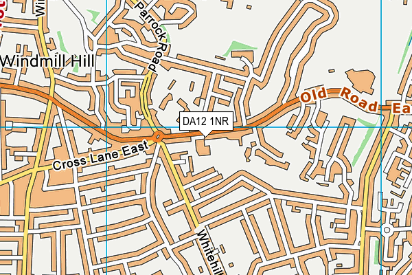 St Joseph's Convent Preparatory School map (DA12 1NR) - OS VectorMap District (Ordnance Survey)